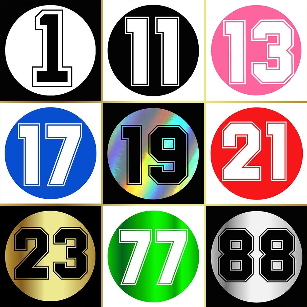 WaveHands Смешные автомобильные стикеры Круглый номер 13 Светоотражающие Водонепроницаемый наклейки на авто мото наклейка винил JDM на мотоцикле...