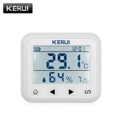 KERUI TD32 LED عرض قابل للتعديل درجة الحرارة والرطوبة جهاز استشعار إنذار إنذار كاشف حماية الشخصية والممتلكات