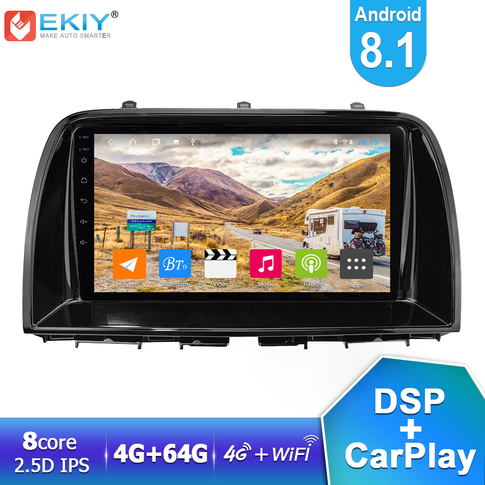 EKIY LTE IPS DSP <font><b>Android</b></font> 8.1 Car <font><b>Radio</b></font> 4G+64G For <font><b>Mazda</b></font> CX5 <font><b>CX</b></font>-<font><b>5</b></font> 2014 2015 2016 Stereo Navigation GPS BT Multimedia Video Player image