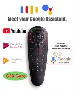 Image 5 - Universale G30 2.4G del Giroscopio Wireless Air Mouse 33 Tasti di Apprendimento IR Intelligente di Voce di Controllo Remoto per Android TV Box TV vs G10 G20