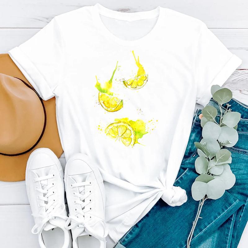 2021 Beach Holiday Summer Short Sleeve Women Cartoon Strawberry Cute Fashion Clothes Print Tshirt Female Tee Top Graphic T-shirt 6