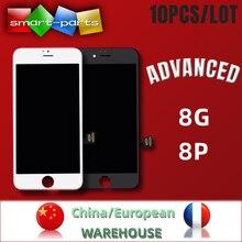 10 peças navio a partir de china/europa avançado premium tianma lcd para iphone 8 mais display lcd 3dtouch digitador da tela de montagem