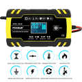 Car Battery Charger 12/24V 8A LCD Touch Screen Pulse Repair Charger For Car Motorcycle Lead Acid Battery Charger Agm Gel Wetlay