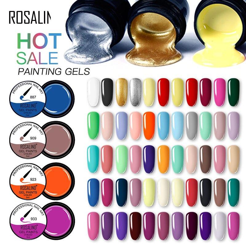Гель-лаки для ногтей ROSALIND набор гель-лаков для ногтей 5 мл DIY дизайн все для маникюра Гибридный лак гель-лаки