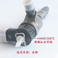 Defute Originele Merk 0445110672 Common Rail Injector Montage