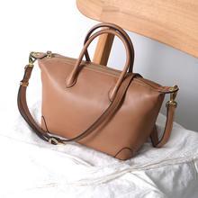 Bolsos mujer сумка из воловьей кожи пельменей мягкая кожаная