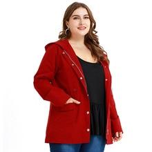 5XL Women Jacket Basic Windbreaker Hooded Coat Plus Size Casual Zipper chaquetas mujer 2019 Autumn Hooded Coat chamarras de D30 plus size asymmetrical hooded coat