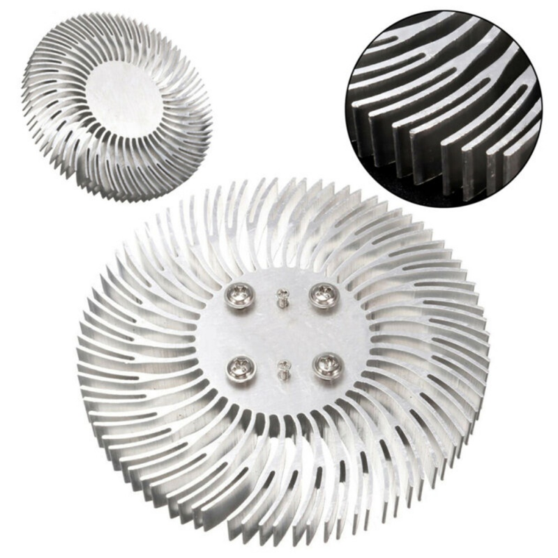 1pcs Round Spiral Aluminum Heatsink Cooler Led Heat Sink Radiator For 10W High Power LED Light Lamp Replaceable Radiator