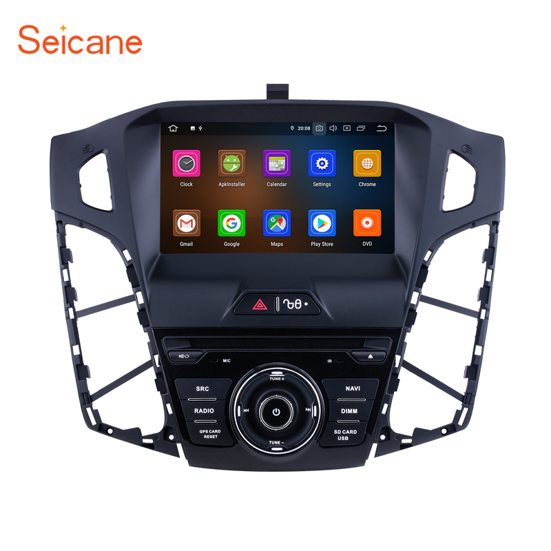 Seicane 4GBRAM +64GB ROM Android 10.0 8-core Car GPS Multimedia Player for Ford focus 2011 2012 2013 IPS Stereo tape recorder image