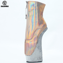 Platform Ankle-Boots Holographic 22cm-Heel JIALUOWEI 4cm Extreme Sexy