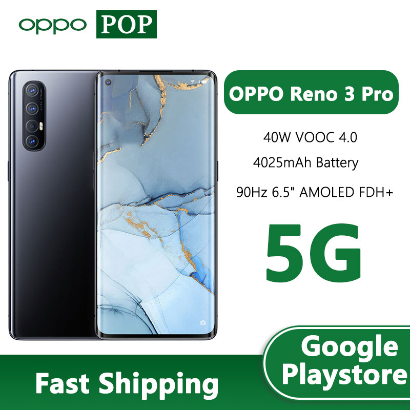 OPPO Reno 3 Pro 5G Mobile Phone 6.5 inch 90Hz AMOLED Snapdragon 765G VOOC Flash Charge 4.0 in screen NFC Google play|Cellphones| - AliExpress