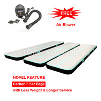3m 4m 5m Inflatable Light Air Track Gymnastics Mattress Tumbling Airtrack for Gym Tumble Yoga Wrestling Carbon Fiber Material