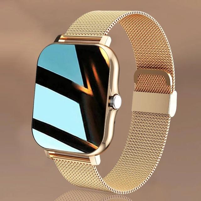 "2021 New Women Smart watch Men 1.69"" Color Screen Full touch Fitness Tracker Bluetooth Call Smart Clock Ladies Smart Watch Women 1"
