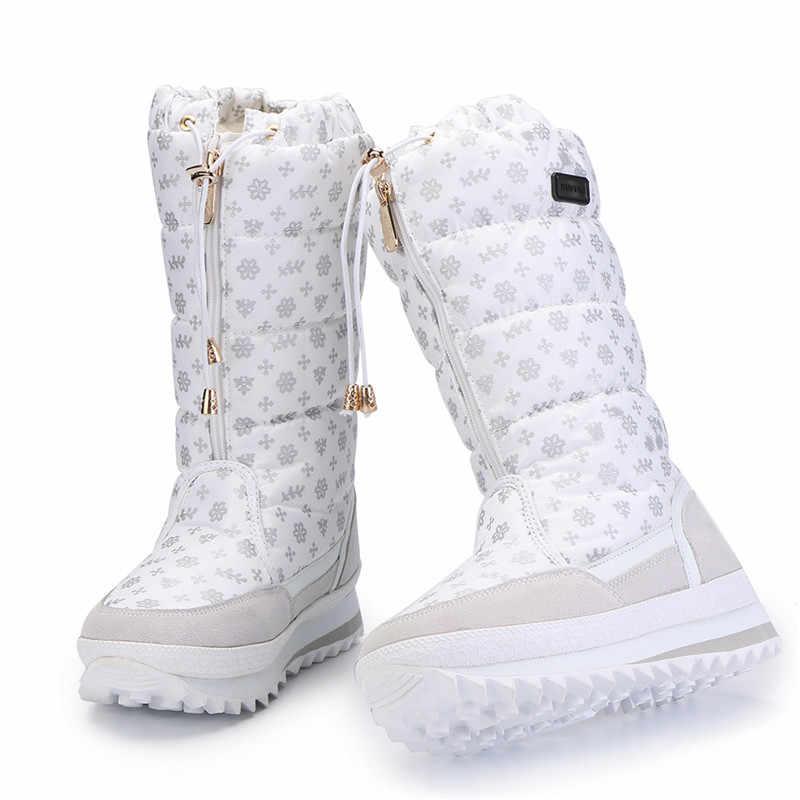 MORAZORA Neue ankunft 2019 warme Schnee stiefel damen wildleder leder mitte wade stiefel wasserdicht plüsch weibliche schuhe frauen winter stiefel