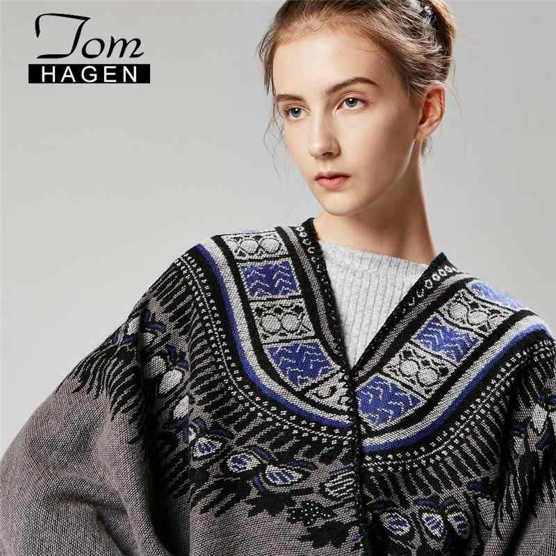 إمرأة Ponchos الشتاء كيب 2020 مجردة رشاقته سبليت شال عباءة الكورية طويلة Ponchos الرؤوس المرأة الدافئة الفاخرة سترة وشاح من الصوف