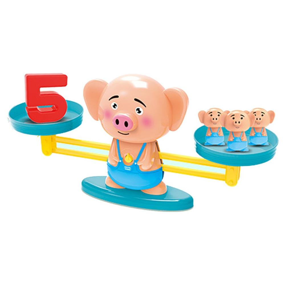 2019 NEW Upgrade Monkey Digital Balance Scale Toy Kids Educational Puzzle Toy Baby Match Intellige Game Board Toys Addition Toy