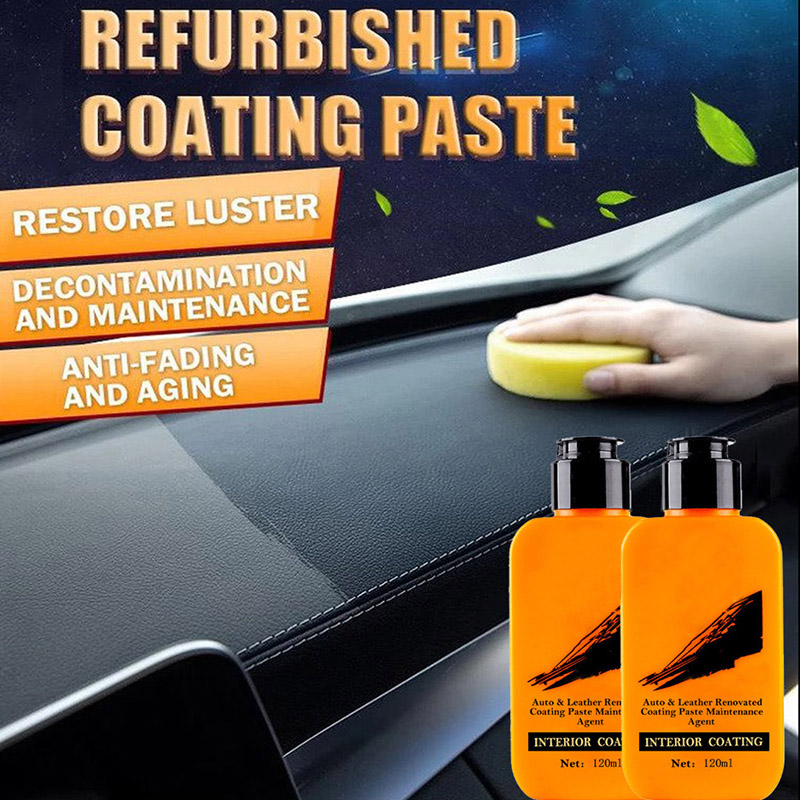 120ml Chinese And English Leather Renovated Coating Paste Decontamination Car Interior Leather Anti-aging Refurbishing Cleaner