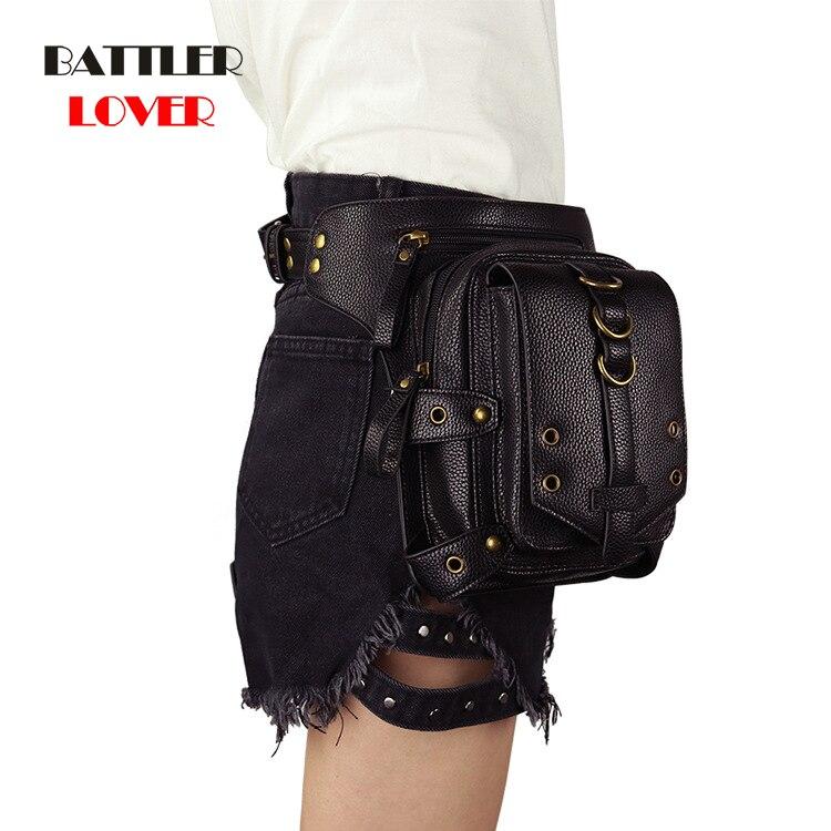 Vintage Steampunk Leather Steam Punk Retro Rock Gothic Retro Cosplay Battlegrounds Waist Bags Packs Victorian Womens Men Leg Bag