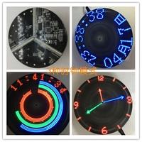 A rotação ótica do disco conduziu a cor colorida do plano de pov da rotação da cor conduziu a produção eletrônica diy