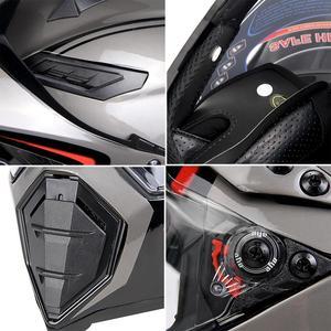 Image 5 - BYE Moto rcycle kask Moto çapraz kask kasko moto Moto rbike yarış Moto kask Biker tam yüz kask ECE DOT sertifikası