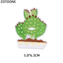 ZOTOONE Iron on Cactus Plant Patch for Clothing T-shirt Patches Heat Transfer Diy Applique Embroidered Applications Fabric G