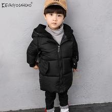 2019 zimowe chłopcy kurtki dla chłopców płaszcze dzieci z kapturem ciepłe bawełniane kurtki płaszcz dla chłopców ubrania kurtka dla dzieci 1 2 3 4 5 6 rok tanie tanio KEAIYOUHUO Moda Poliester NYLON COTTON Stałe REGULAR Kurtki płaszcze Pełna Pasuje prawda na wymiar weź swój normalny rozmiar