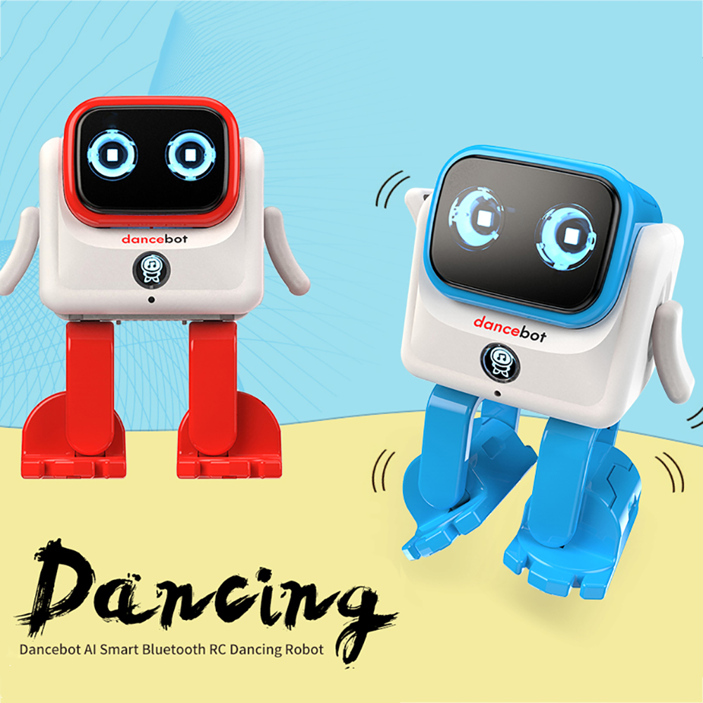 RC Robot Toy Intelligent Dancebot AI Smart Bluetooth Dancing Robot with Speaker Interactive Educational RC robotic for Christmas