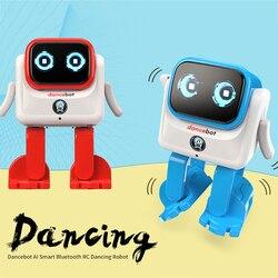 Zabawkowy zdalnie sterowany robot inteligentny Dancebot AI inteligentny Bluetooth tańczący robot z głośnikiem interaktywne edukacyjne RC robota na boże narodzenie w Roboty RC od Zabawki i hobby na