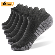 Winter Socks Sports-Ankle-Socks Outdoor Thick Knit Fitness Autumn 6-Pairs Low-Cut Athletic