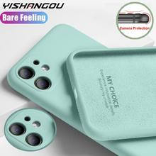 Case-Cover iPhone Silicone for 11 12-Pro/max Xs-Max XR 8-7/Camera/Protect/Liquid 5s 6s-Plus