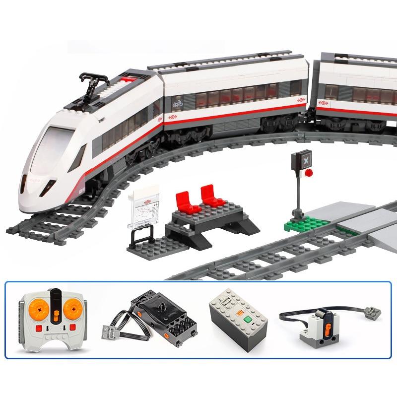 Oyuncaklar ve Hobi Ürünleri'ten Bloklar'de Yüksek Hızlı Yolcu 659 adet Uyumlu 60051 Şehir Tren Yapı Taşları Tuğla Çocuklar DIY Oyuncaklar Hediyeler'da  Grup 1