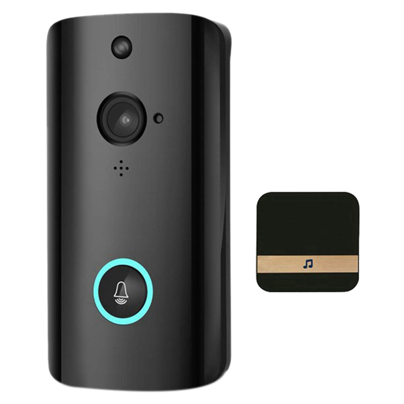 Smart Wireless <font><b>Doorbell</b></font> Video Camera Home Security WiFi <font><b>Remote</b></font> Video Phone Intercom Bell Support TF Card image