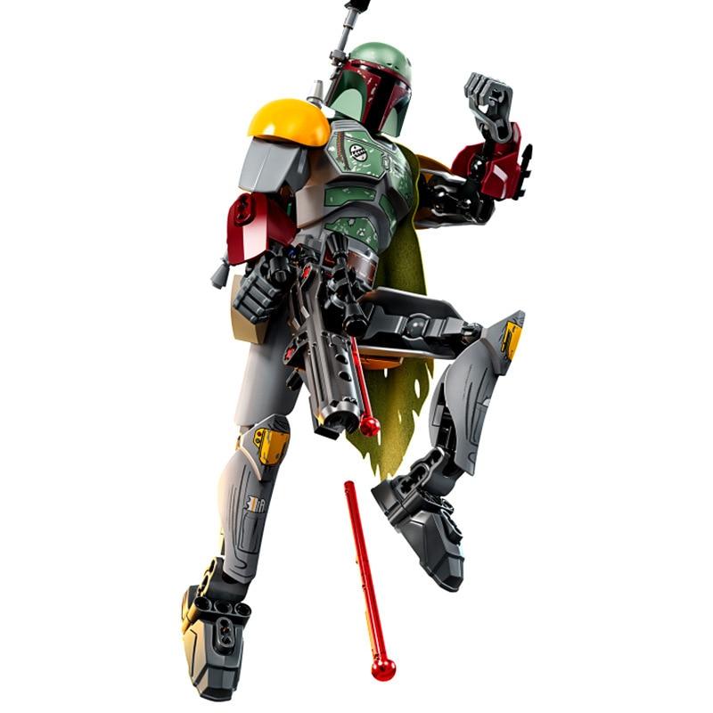 Star Wars Assemble Figure Boba Fett Sandtrooper Stormtrooper Darth Vader Chewbacca Action Figure Christmas Gift Toy For Children