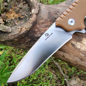 Image 4 - Ball Bearing Folding Knife D2 Blade G10 Handle Camping Hunting Survival Knives Pocket Outdoor Knife EDC Tool with Waist Clip