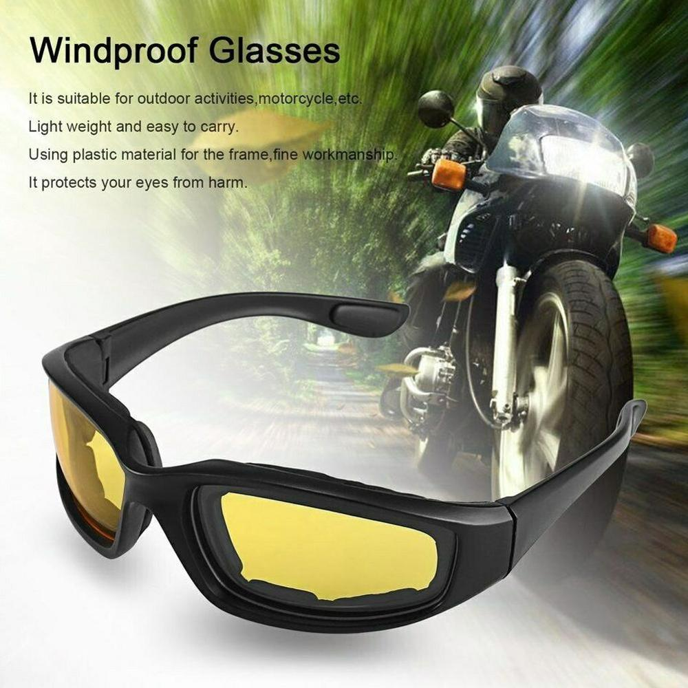 Car Motorcycle Driver Glasses Sunglasses For Shooting Airsoft Eyewear Men Women Eye Protection Windproof Night Vision Goggles
