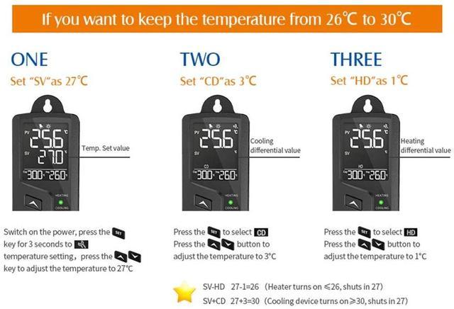 Elitech Digitale Pre-Wired Regolatore di Temperatura/Termostato di Raffreddamento e Riscaldamento di Controllo, Facile Da Controllare, REGNO UNITO Spina