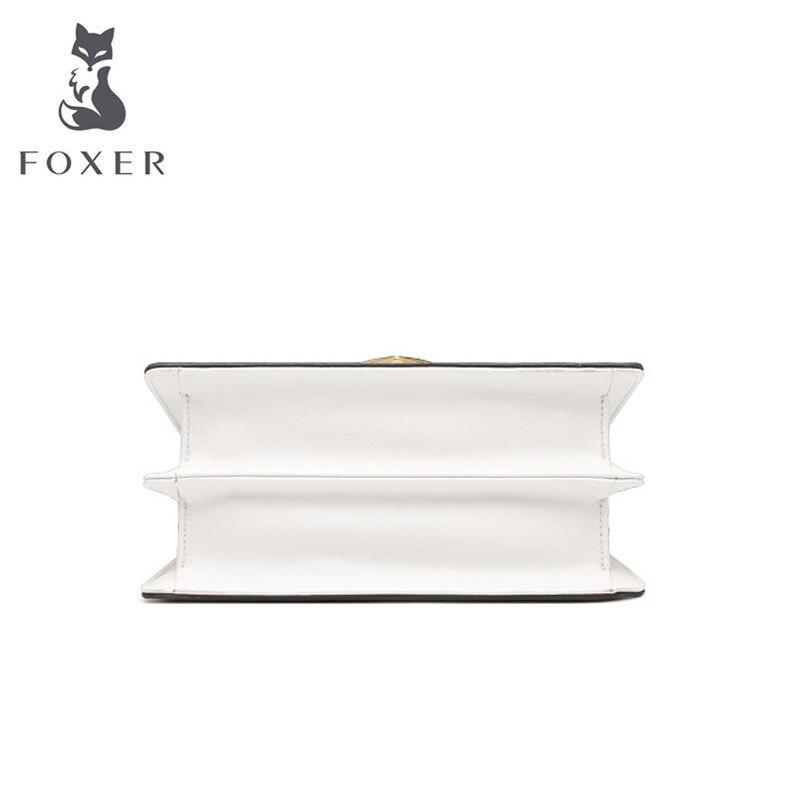 FOXER 2019 New Women leather bags Cowhide quality fashion patchwork women handbags women leather shoulder Crossbody bag 3