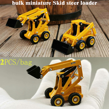bulk Special Offer miniature Skid steer loader Forklift Alloy engineering vehicle model 2pcs bag cheap Metal Grownups Other Diecast It s made of alloy but some parts are plastic Finished Goods