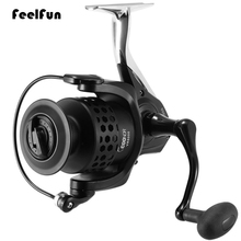 цена на FeelFun 12BB Carp Spinning Fishing Reels Wheel 3000 Series Aluminum Reel Seat Spinning Reel for Freshwater/ Saltwater