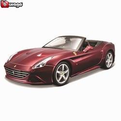 Bburago 1:24 Ferrari California Кабриолет Авторизованная литая модель машины образец прикладного искусства украшения коллекция игрушка подарок
