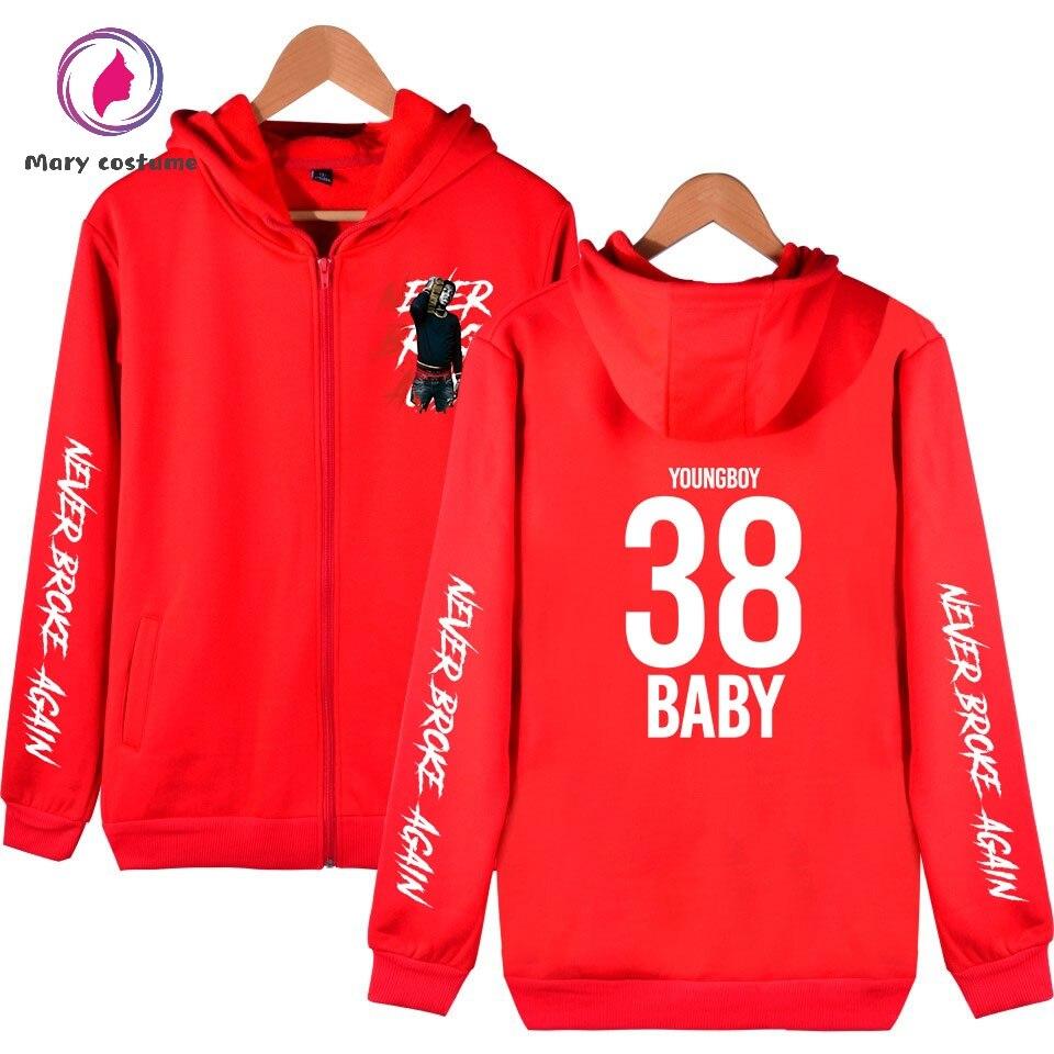 NBA YoungBoy Men Hoodies Zipper Hot Fashion Hoodie Sweatshirt 2019 New Casual Cotton Harajuku Streetwear