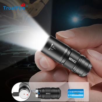 цена на Trustfire Mini rechargeable led flashlight Keychain usb powered 250 Lumens flash light IPX8 EDC torch light