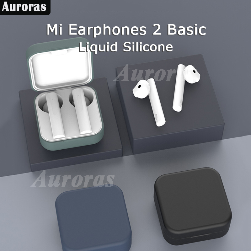 For Xiaomi Wireless Earphones 2 Basic Case Silicone Shockproof Cover For Mi True Earphones 2 Basic Headphone Accessories Air2 SE