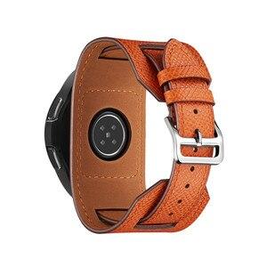 Image 3 - Cross Grain Genuine Leather Watchband For Samsung Galaxy Watch 3 41mm/42mm/Active 2 1 40mm 44mmm Universal Bracelet 20MM Strap