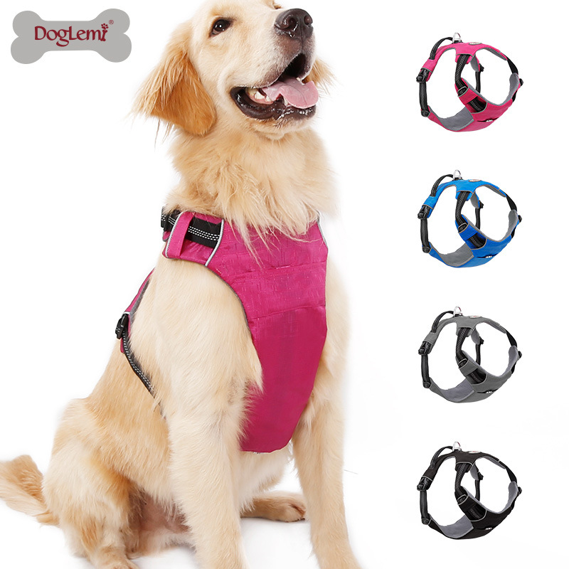 Upgraded Lightweight Comfortable Pet's Chest-back Traction Belt Proof Punch Vest Style In Large Dog Rope Chain