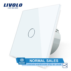Livolo Eu Standaard Wandschakelaar 2 Manier Controle Touch Screen Switch, Crystal Glass Panel, 220-250 V, VL-C701S-1/2/3/5