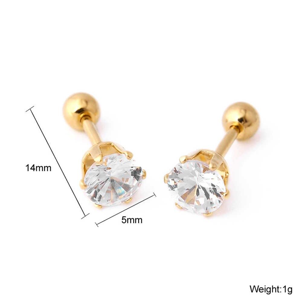 חדש חיות פיל Stud עגילי זהב כסף נירוסטה לנשים גברים אוזן גוף תכשיטי למנוע אלרגיה פירסינג עגיל