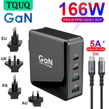 GaN 166W Fast Mobile Phone Charger, USB C PD 100W PPS 45W 20W QC4+ Quick Charge For Xiaomi,Samsung,iPhone,MacBook,Laptop Adapter