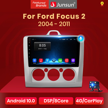 Navigation GPS Multimedia-Player Car-Radio Voice-Control Junsun V1 Android-10 Ford-Focus-2-3-Mk2/mk3