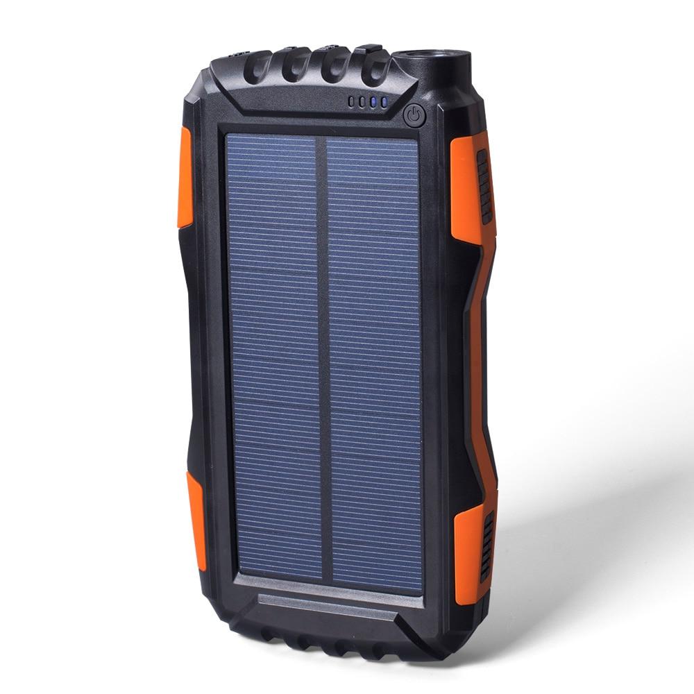 IP65 Waterproof 20000mAh High-Capacity Solar Power Bank with LED Flashlight and Dual USB Ports 4